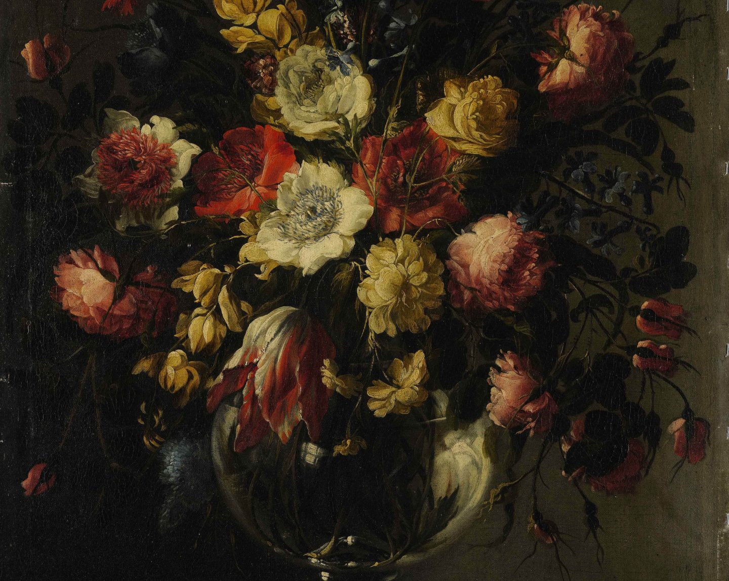Arellano - Still Life With A Large Array Of Flowers detail