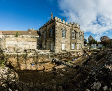 Archaeological dig at Auckland Castle