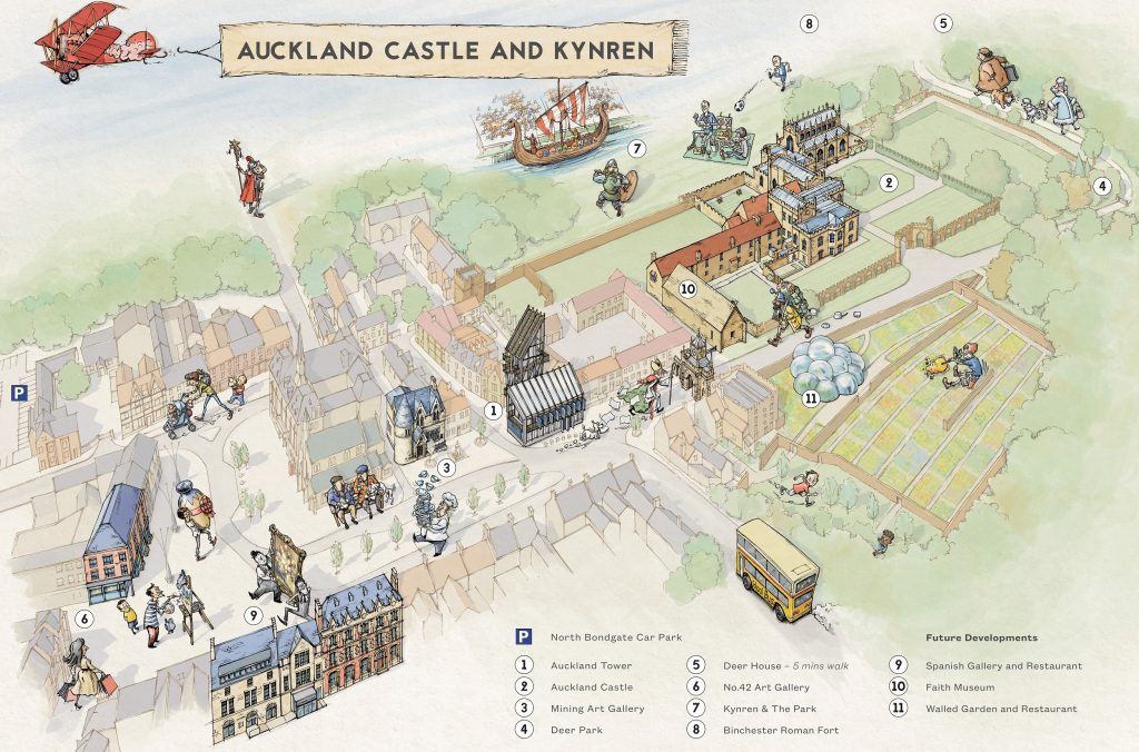 The Auckland Project illustrated map