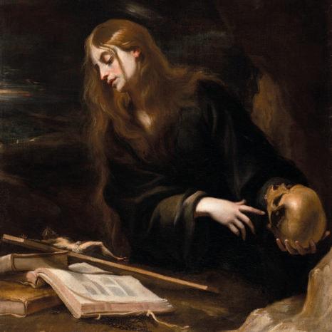 Cerezo Penitent Magdalene Oil On Canvas Li201727 2